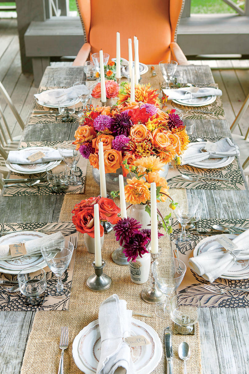Rustic Outdoor Table Setting Ideas