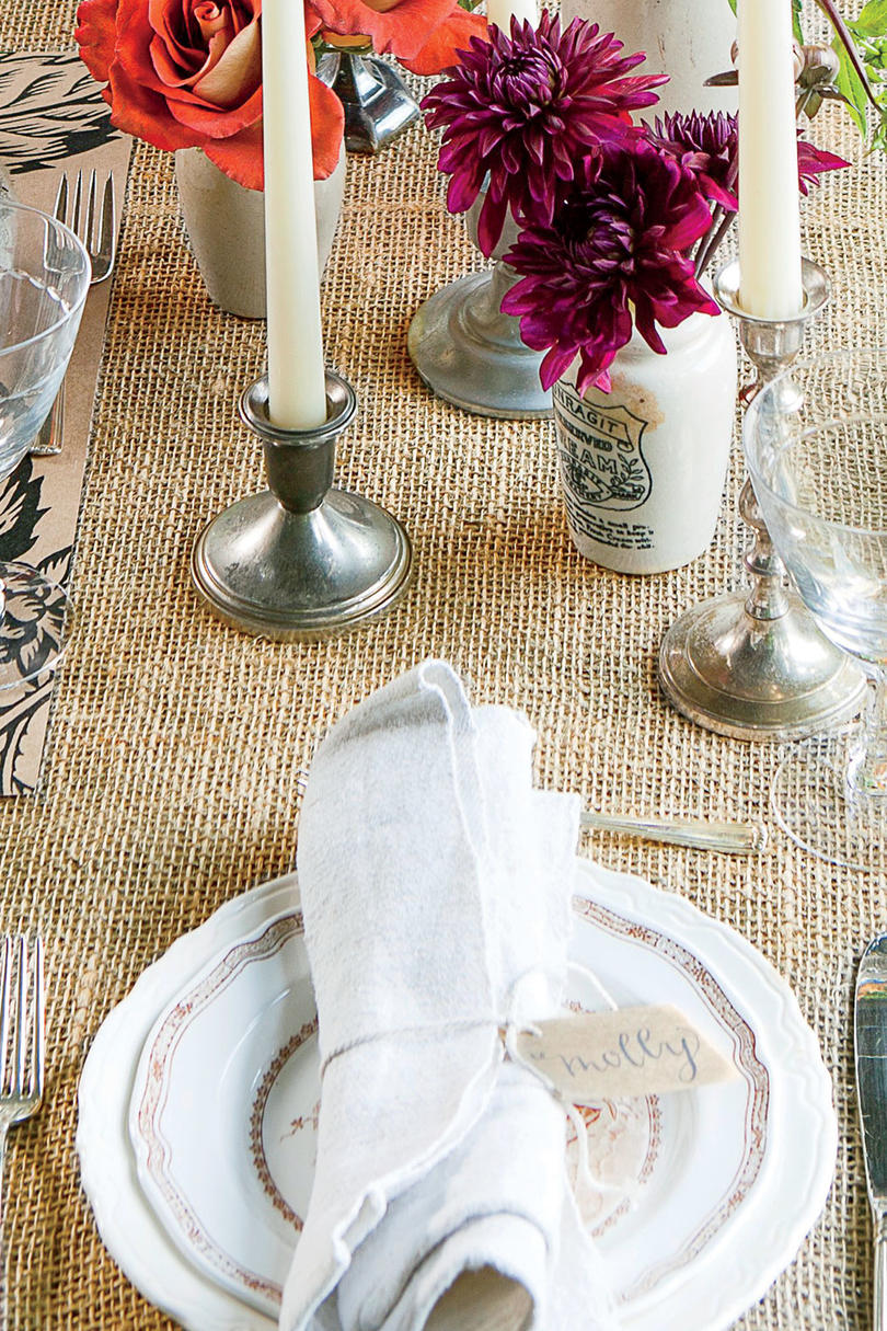 The Place Setting & Rustic Outdoor Table Setting - Southern Living