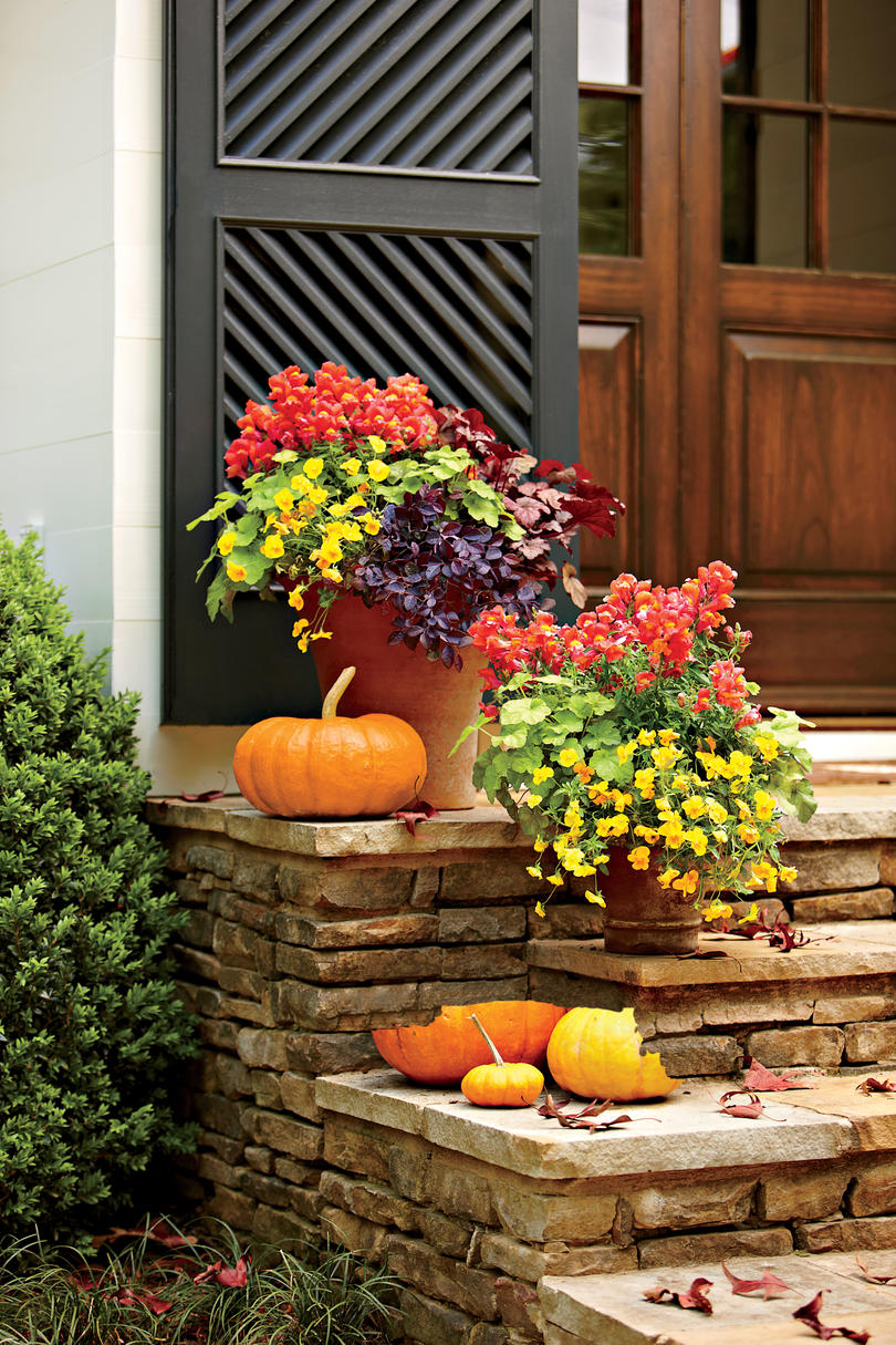 Beautiful Fall Garden Ideas Part - 1: Vibrant Fall Colors
