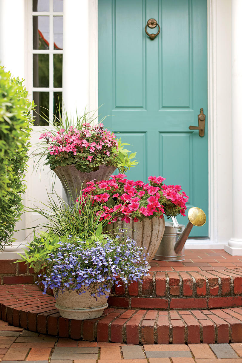 Romantic Stair Step Pots Spectacular Container Gardening