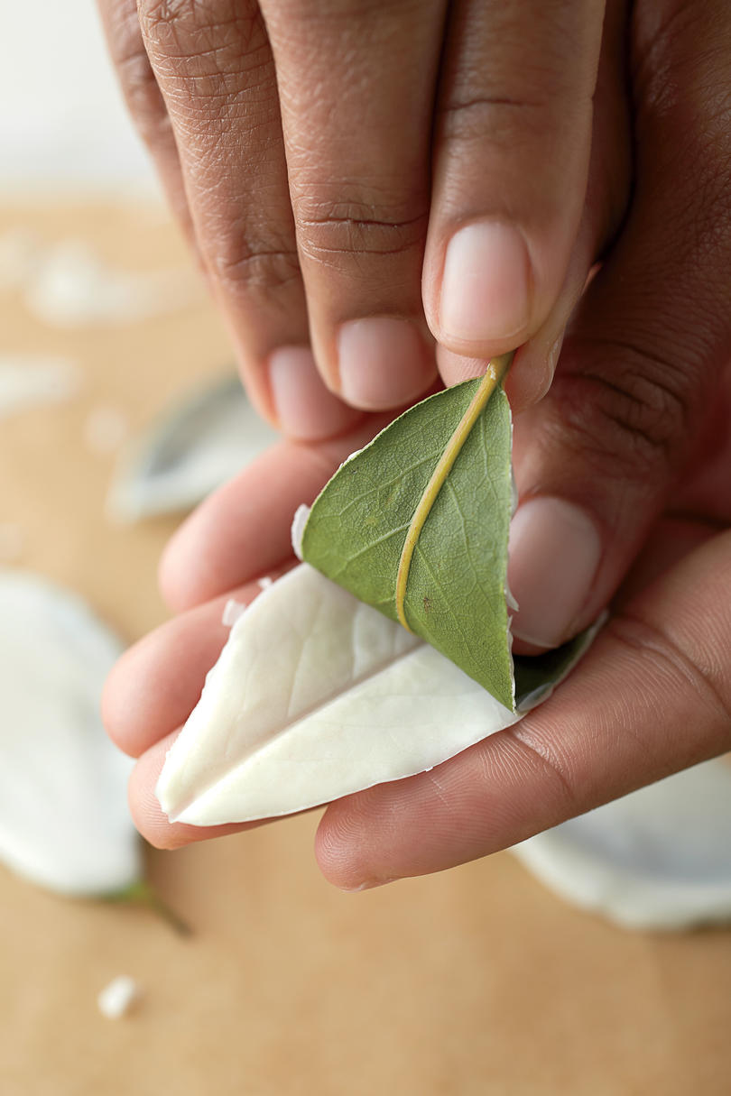 Step 2: Peel Leaves from Candy Coating