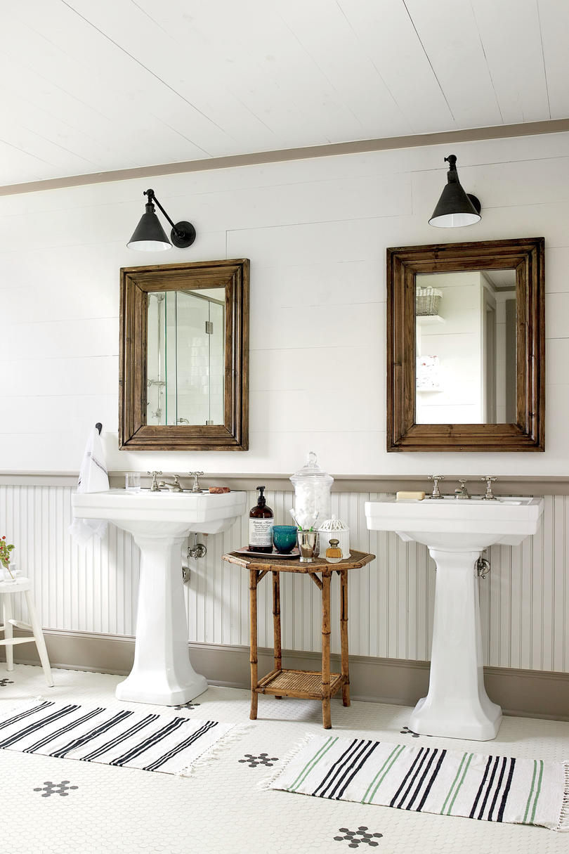 After: Charming Farmhouse Master Bath