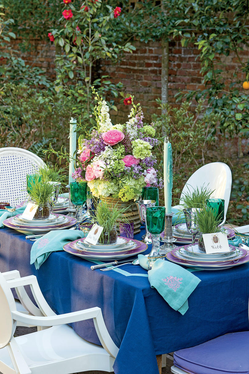 Spring Garden Party Table Setting Southern Living