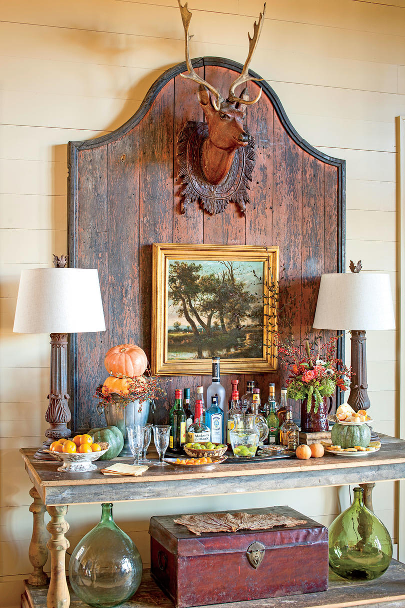 autumn inspired bar - Fall Kitchen Decorating Ideas