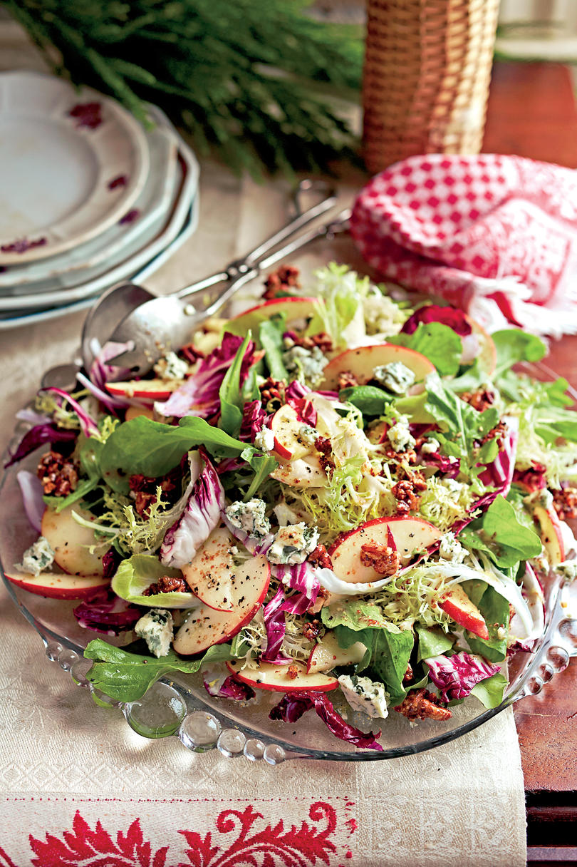 Harvest Salad with Roasted Citrus Vinaigrette and Spiced Pecans