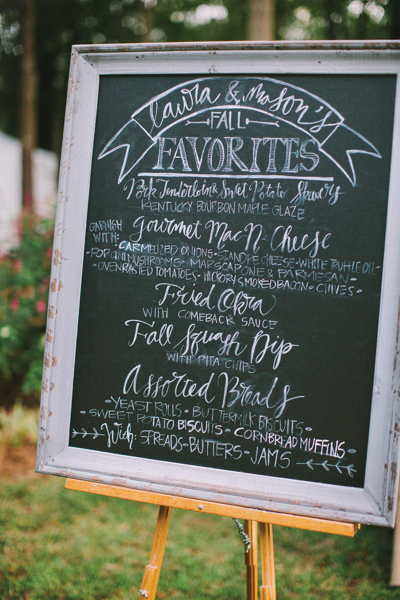 Souther Wedding Menu