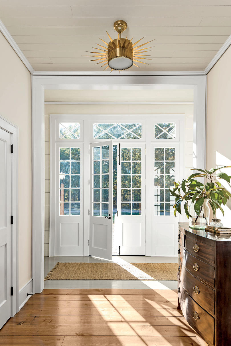 Alabama farmhouse southern living for Exterior french doors both sides open