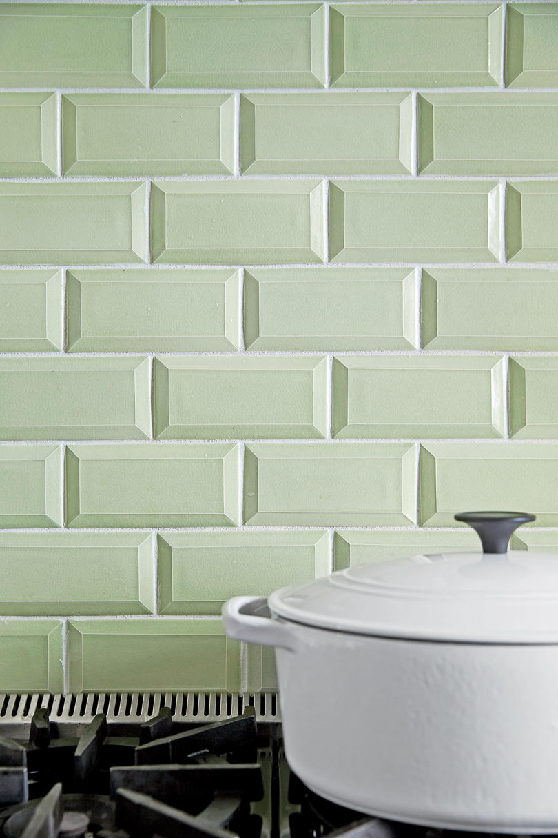 Celadon Subway Tile Background