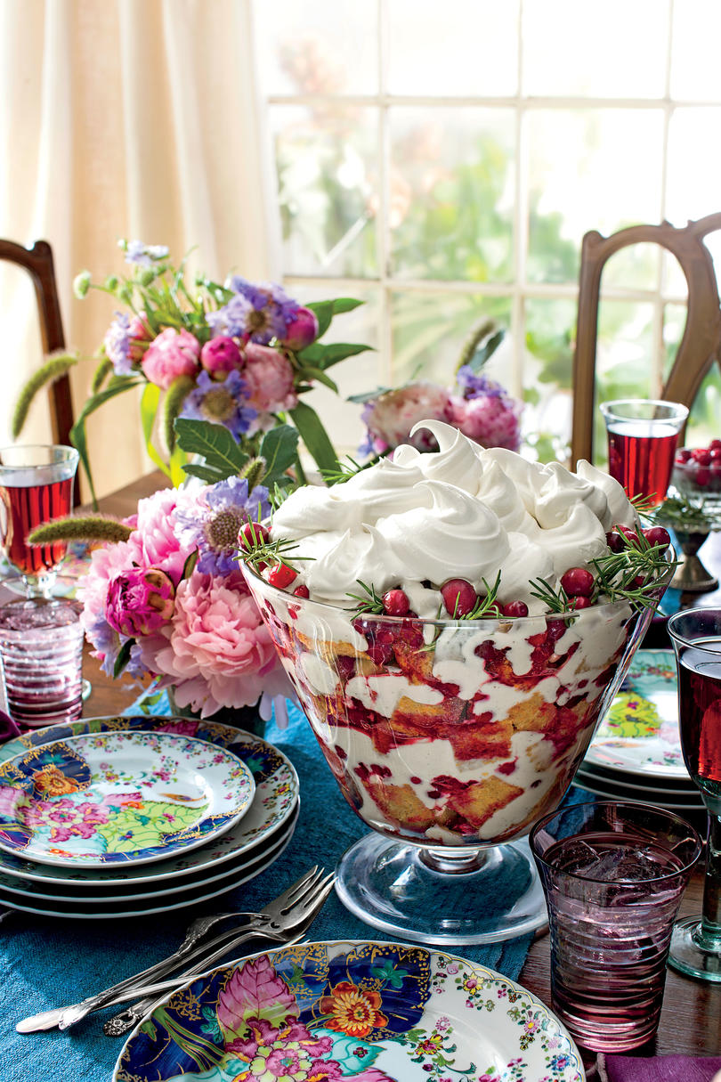 Cherry-Spice Cake Trifle