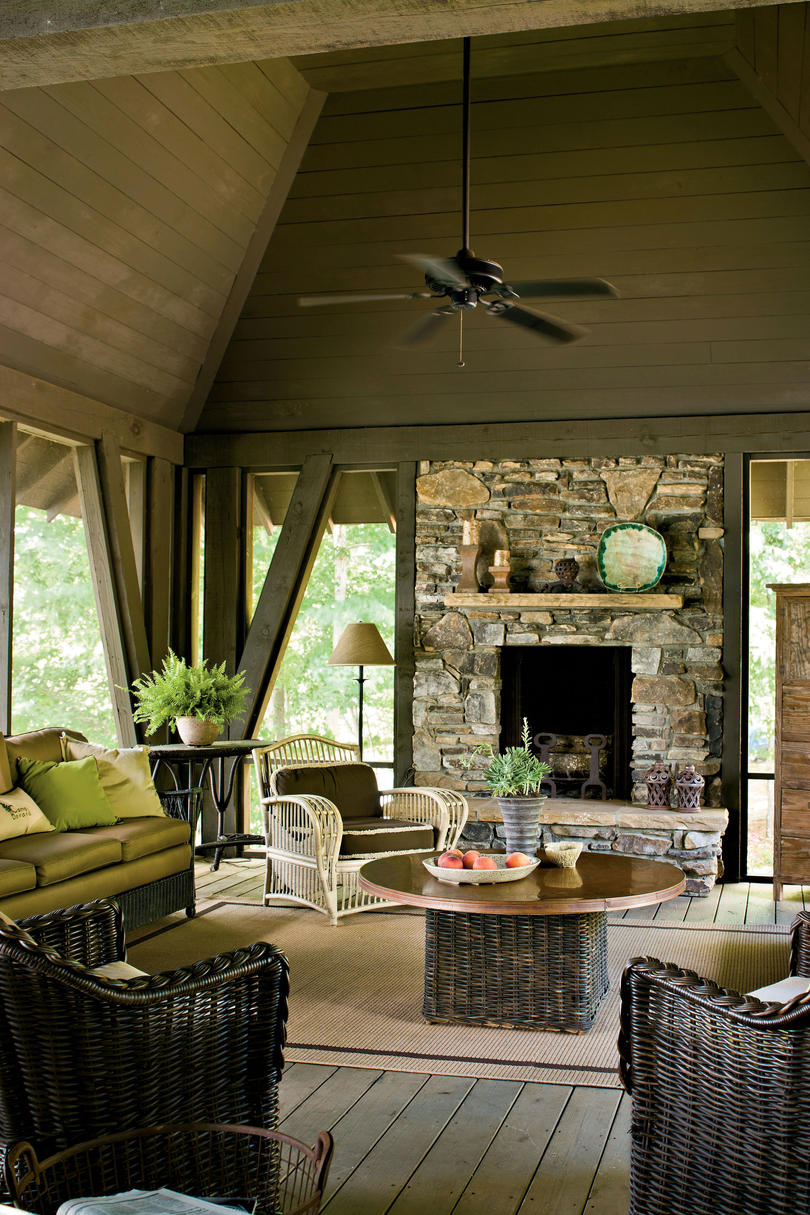choose durable seating - Lake Home Design Ideas