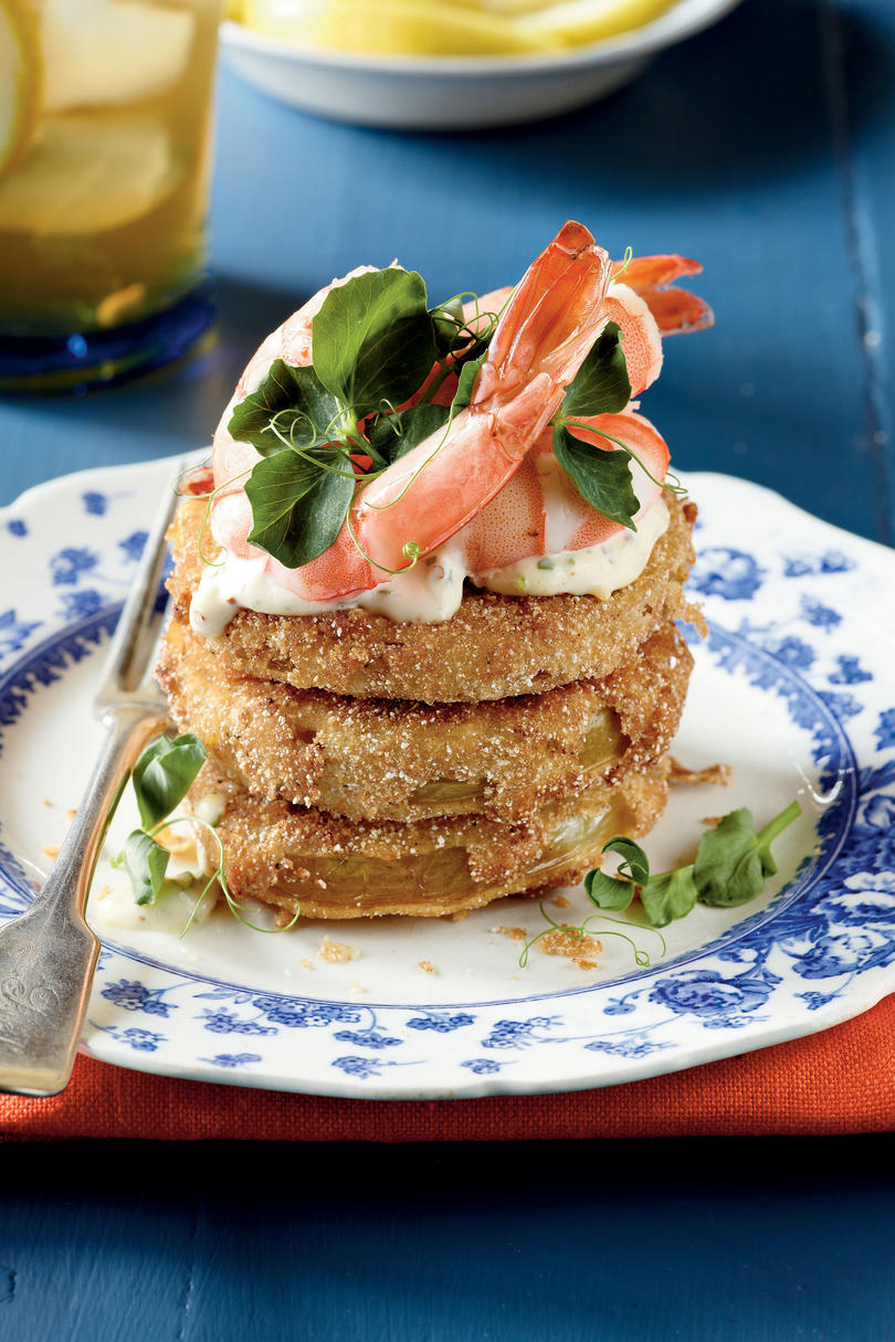Fried Green Tomatoes with Shrimp Rémoulade