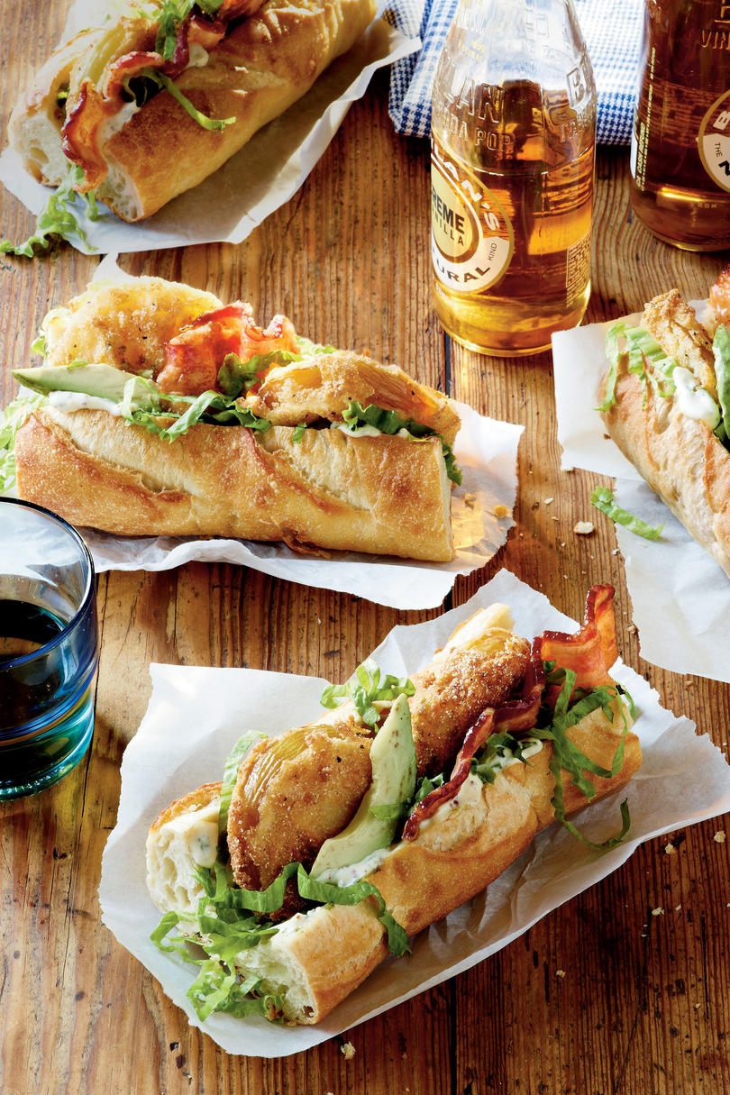 Fried Green Tomato Po'boys