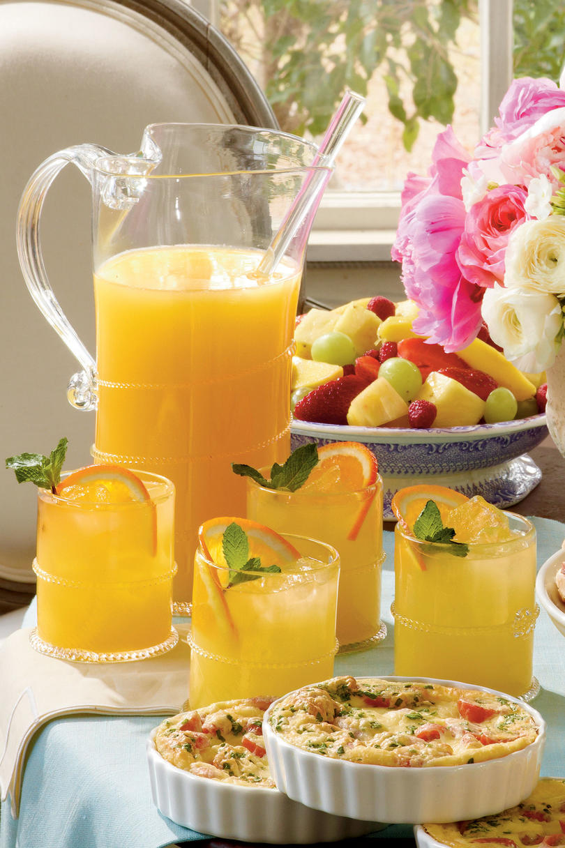 Sparkling Ginger-Orange Cocktails