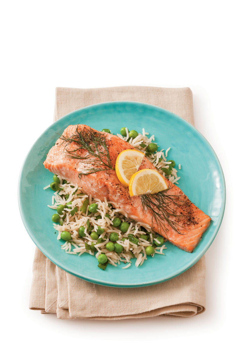 AprilRoasted Salmon with Lemon and Dill