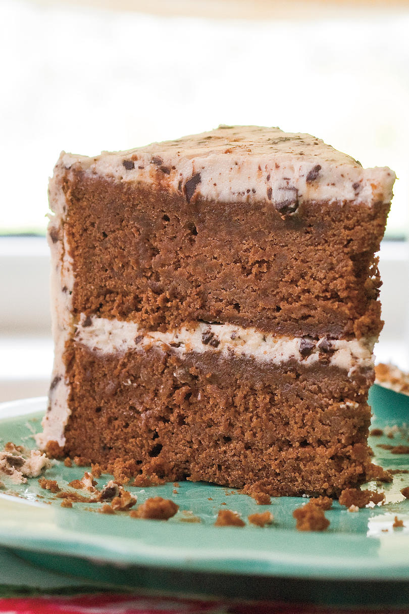 Mint Chocolate Chip Buttercream Frosting