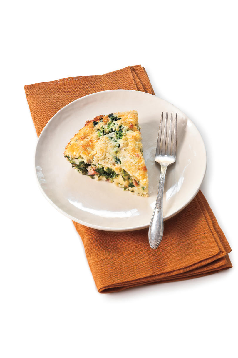 Spicy Ham-and-Greens Quiche
