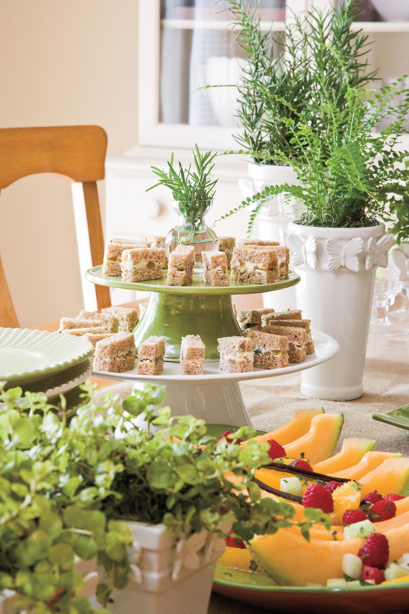 Wedding Bridal Shower Ideas: Finger Sandwiches