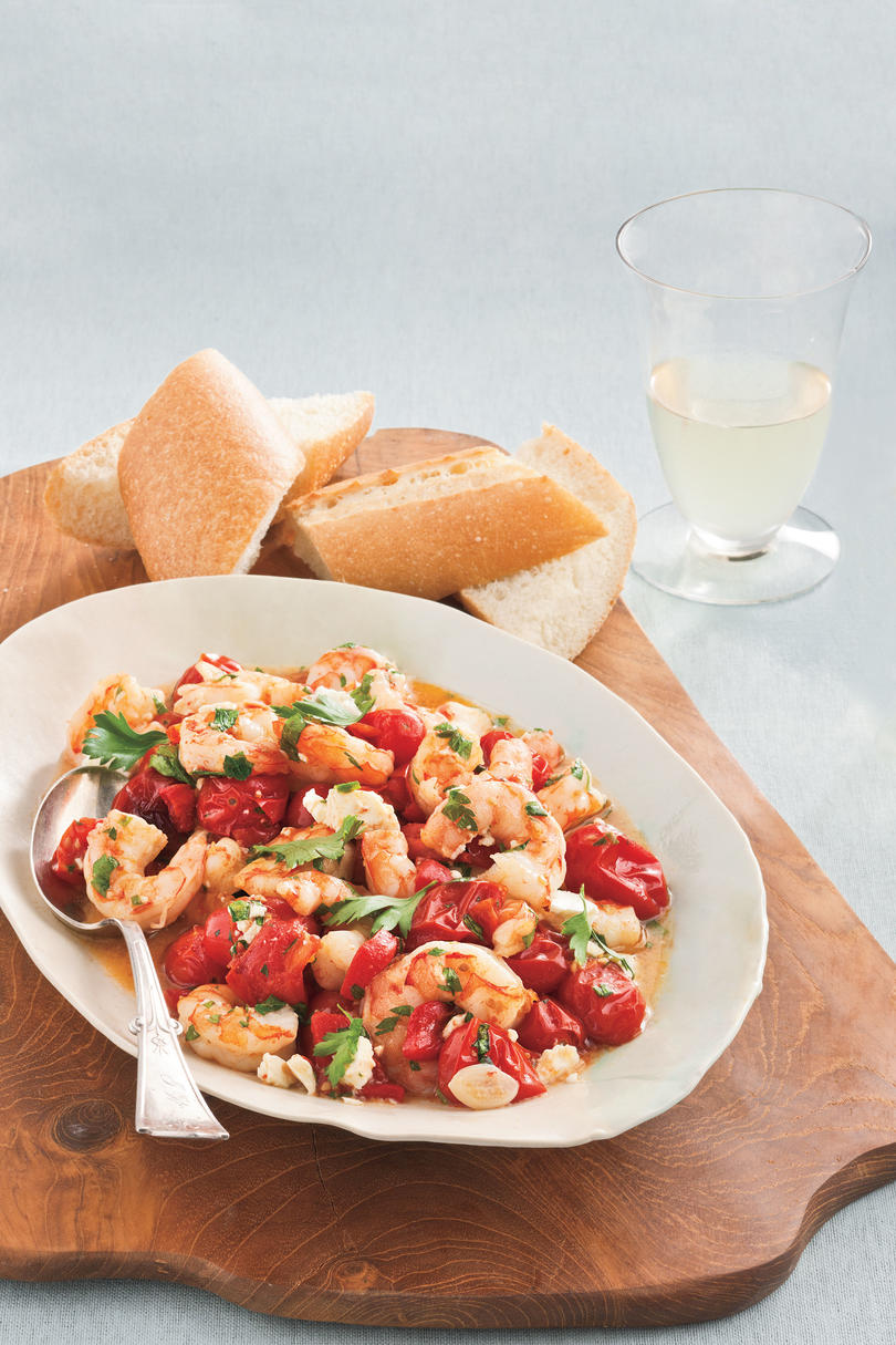 DecemberRoasted Tomato-and-Feta Shrimp