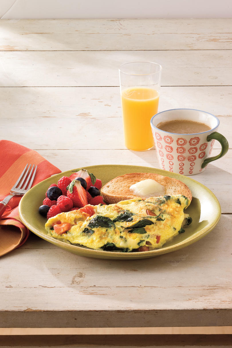 Spinach-and-Cheese Omelet