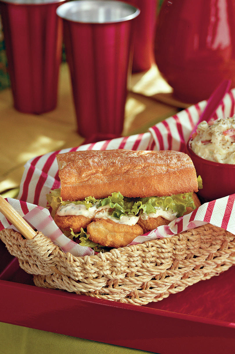 Easy, Healthy Seafood Recipes: Zesty Fish Po'Boys