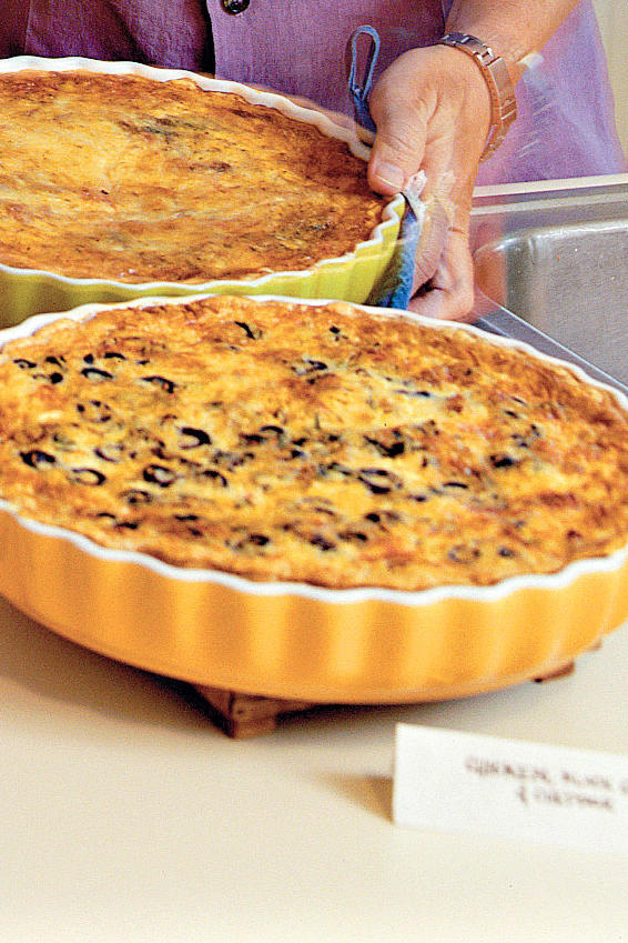 Chicken-Olive-Cheddar Quiche
