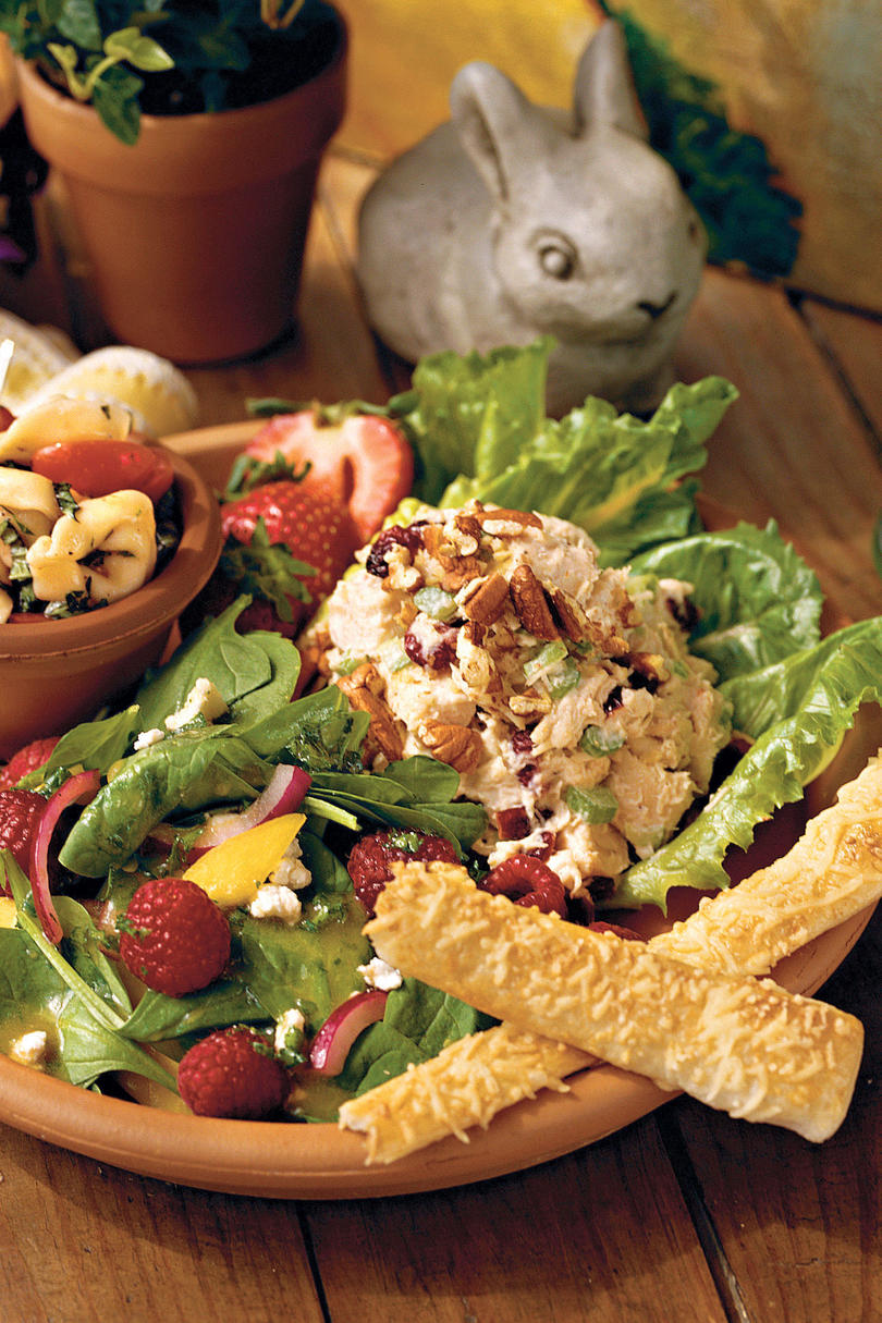 Spring Salad Recipes: Honey Chicken Salad and Tropical Spinach Salad