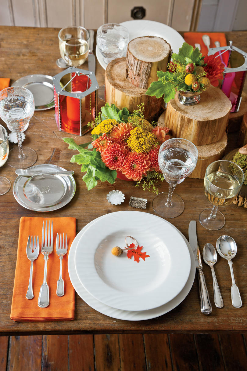 Start with a Plate & Natural Thanksgiving Table Decoration Ideas - Southern Living