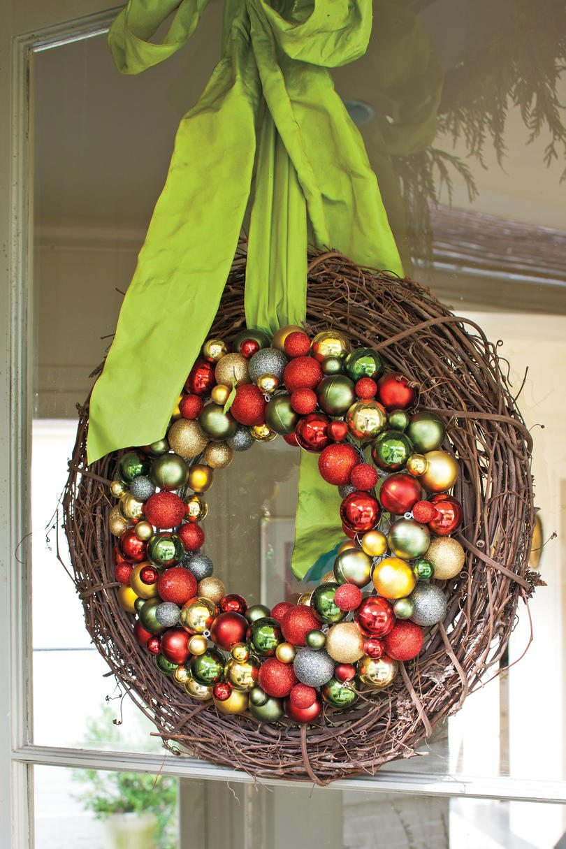 Fruit over the door christmas decoration - Natural Glitzy Combo