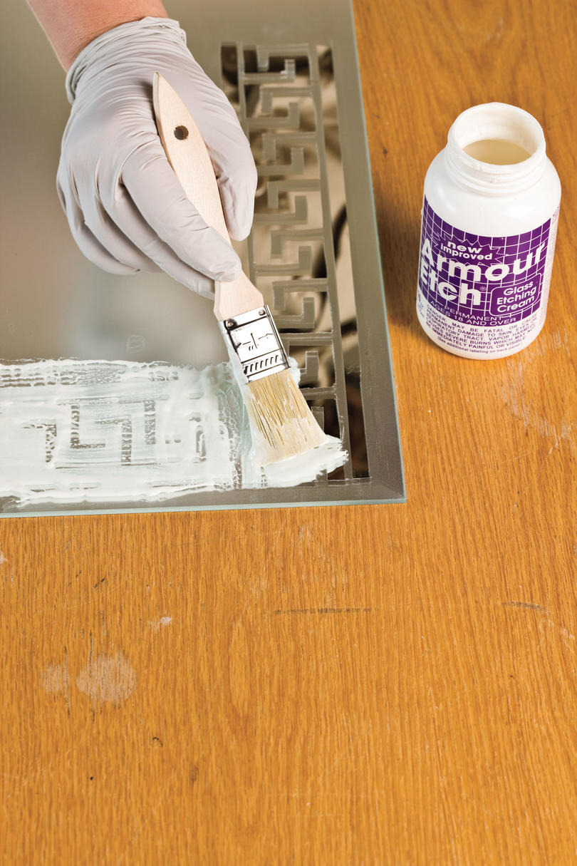 Do-It-Yourself Etched Wall Mirror: Etch Your Design