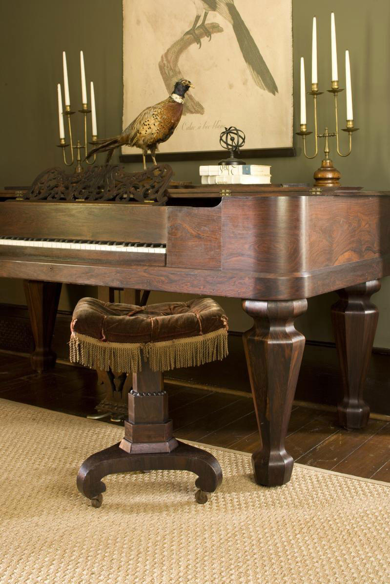 Rosewood-Veneered Piano
