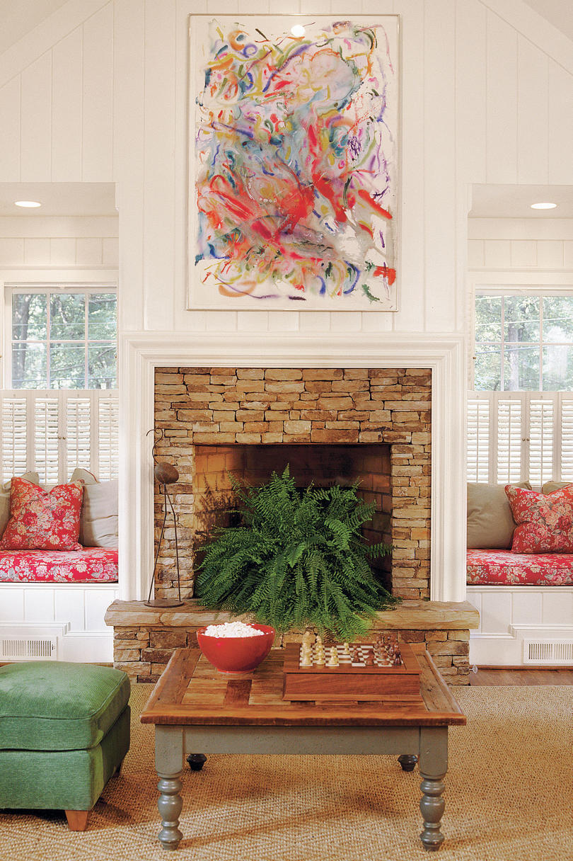 Surround Your Fireplace with Built Ins. 106 Living Room Decorating Ideas   Southern Living