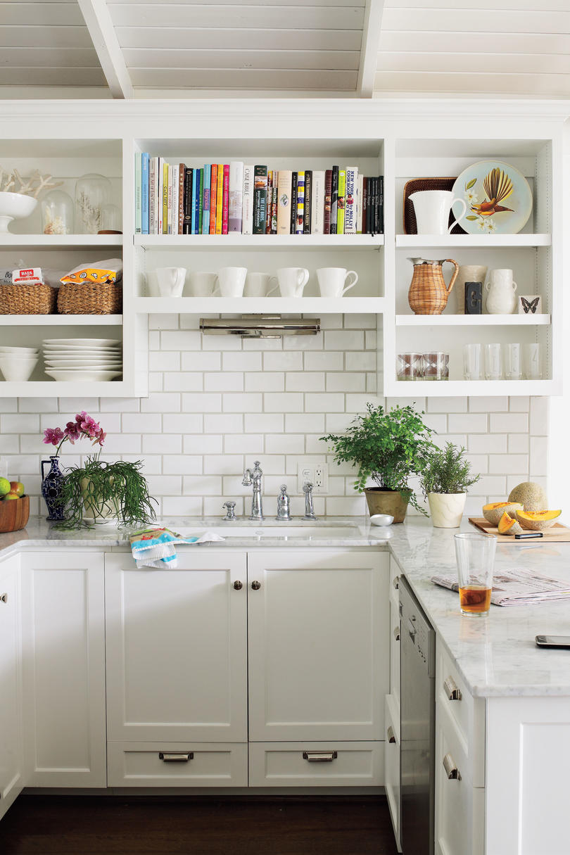 White Painted Home Decor: Fresh, Open Kitchen