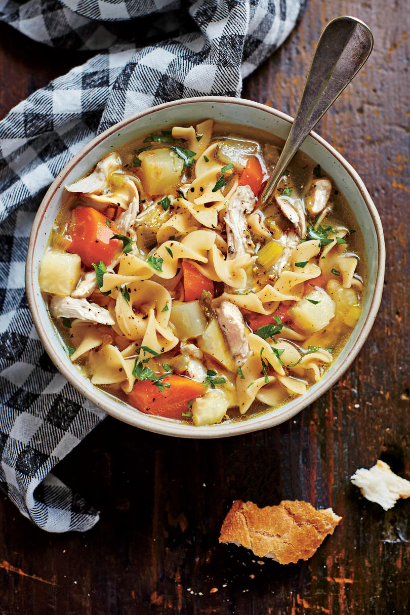 Simple slow cooker recipes southern living soulful chicken soup forumfinder Choice Image