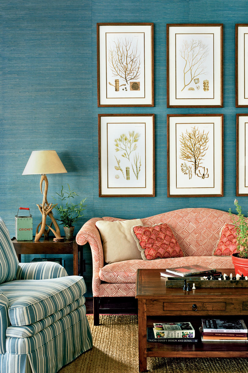 the living room interior design. Mix Motifs Lake House Decorating Ideas  Southern Living