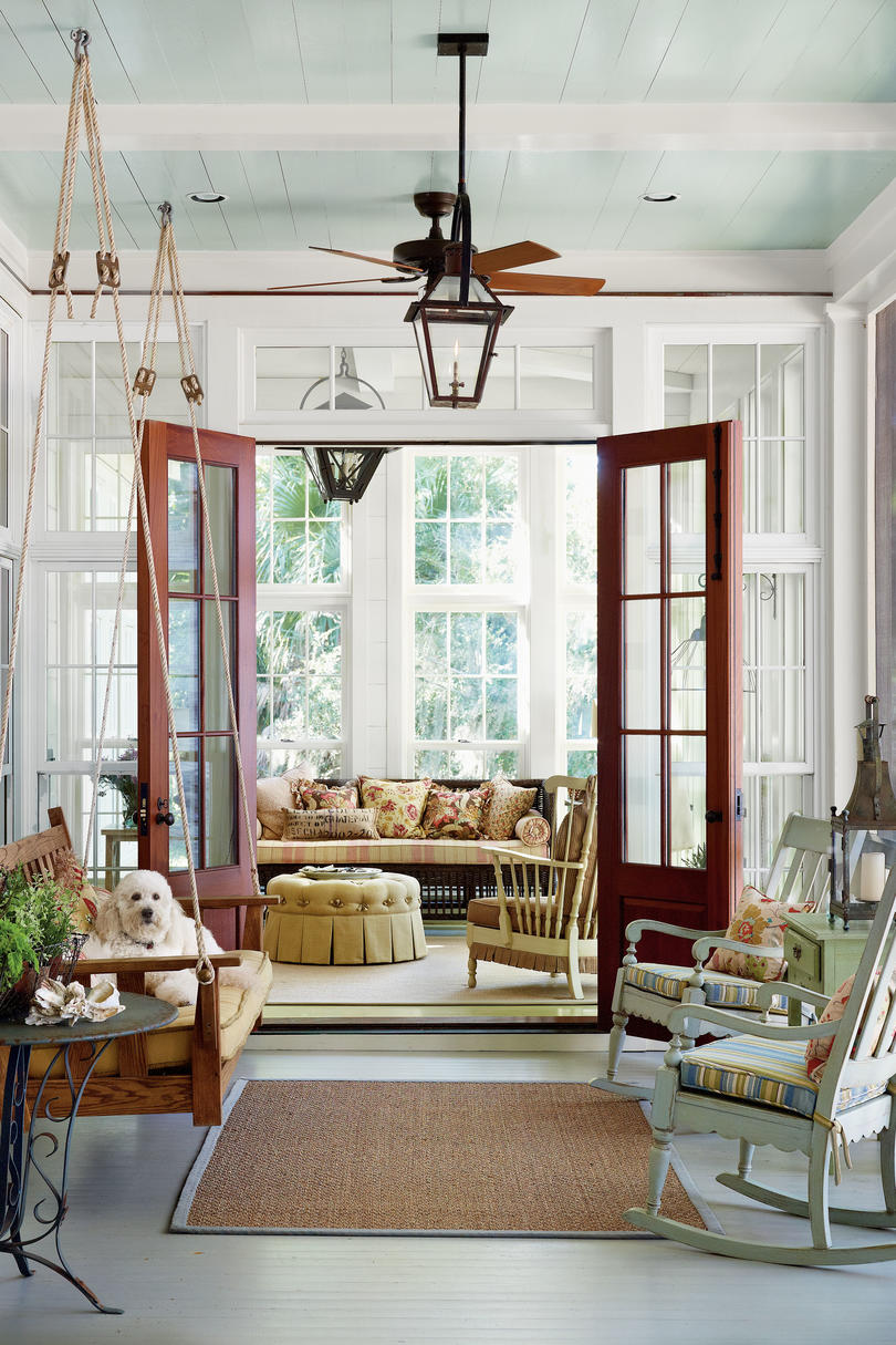 Creating a vintage look in a new home southern living for New houses that look old plans