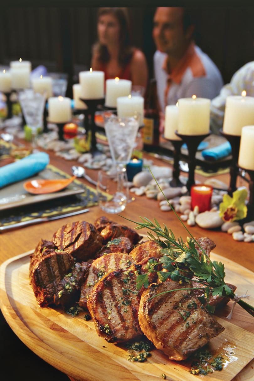 Fourth of July Recipes: Mixed Grill with Cilantro Pesto