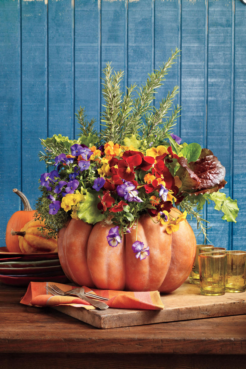 Create a Pumpkin Planter