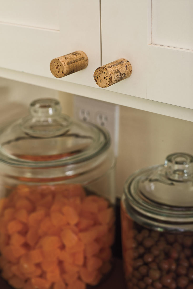 Use Corks as Cabinet Hardware