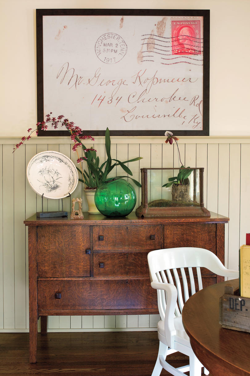 Craftsman Style Home Decorating Ideas: Enlarge and Frame Old Letters