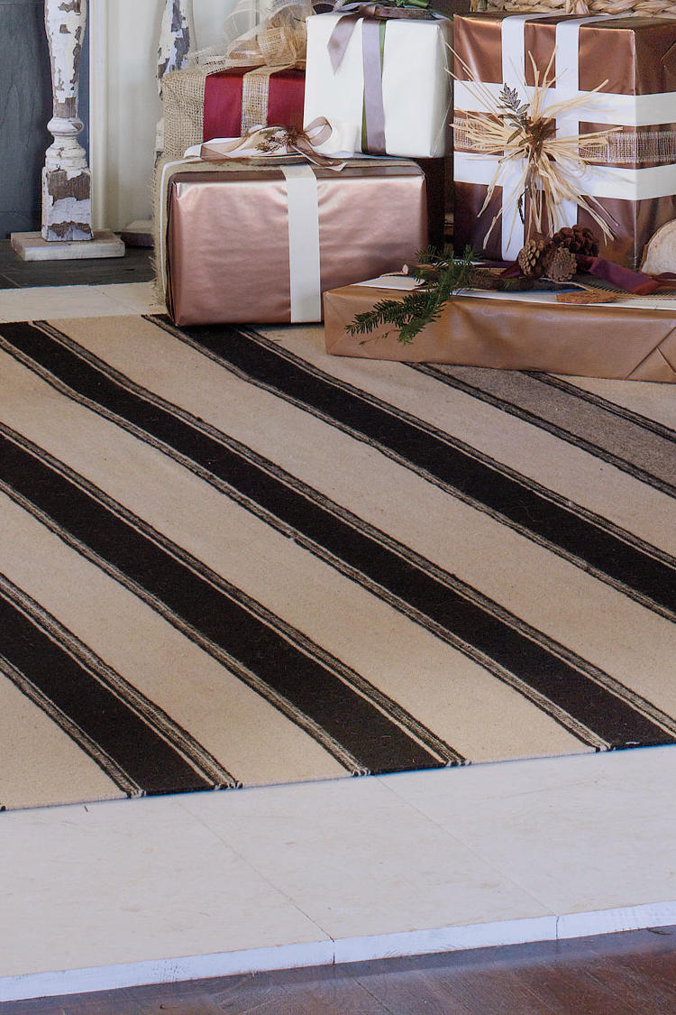 Striped Flat-Weave Rug