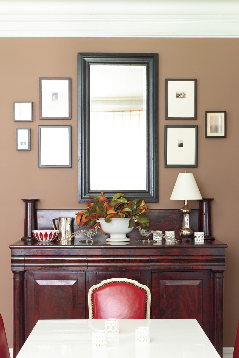 Decorating Dining Room Buffet decorating a dining room buffet - southern living