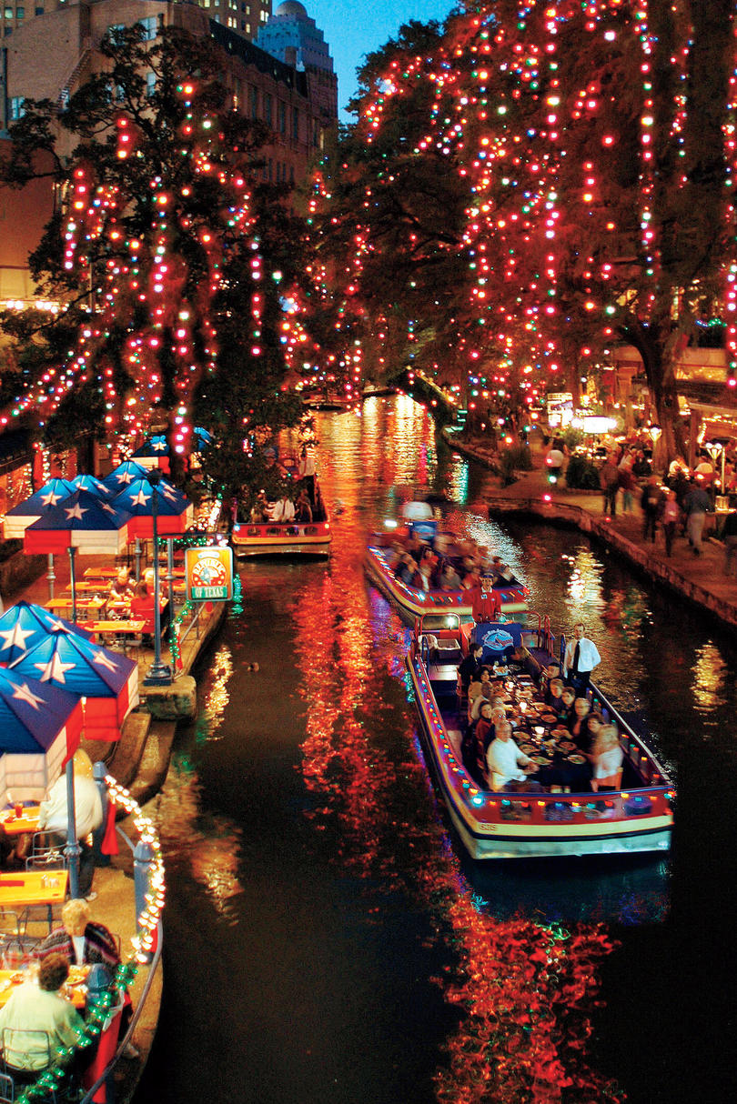 southern christmas vacations san antonio river walk - Best Place For Christmas Decorations