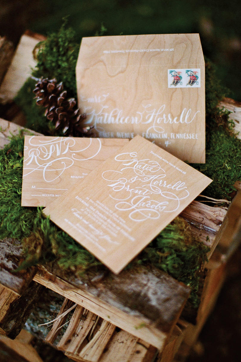 Cherry Wood Invitations