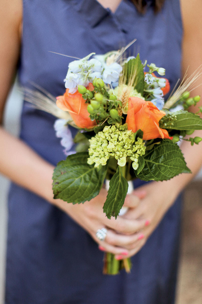 Wheat and Flowers Bouquet