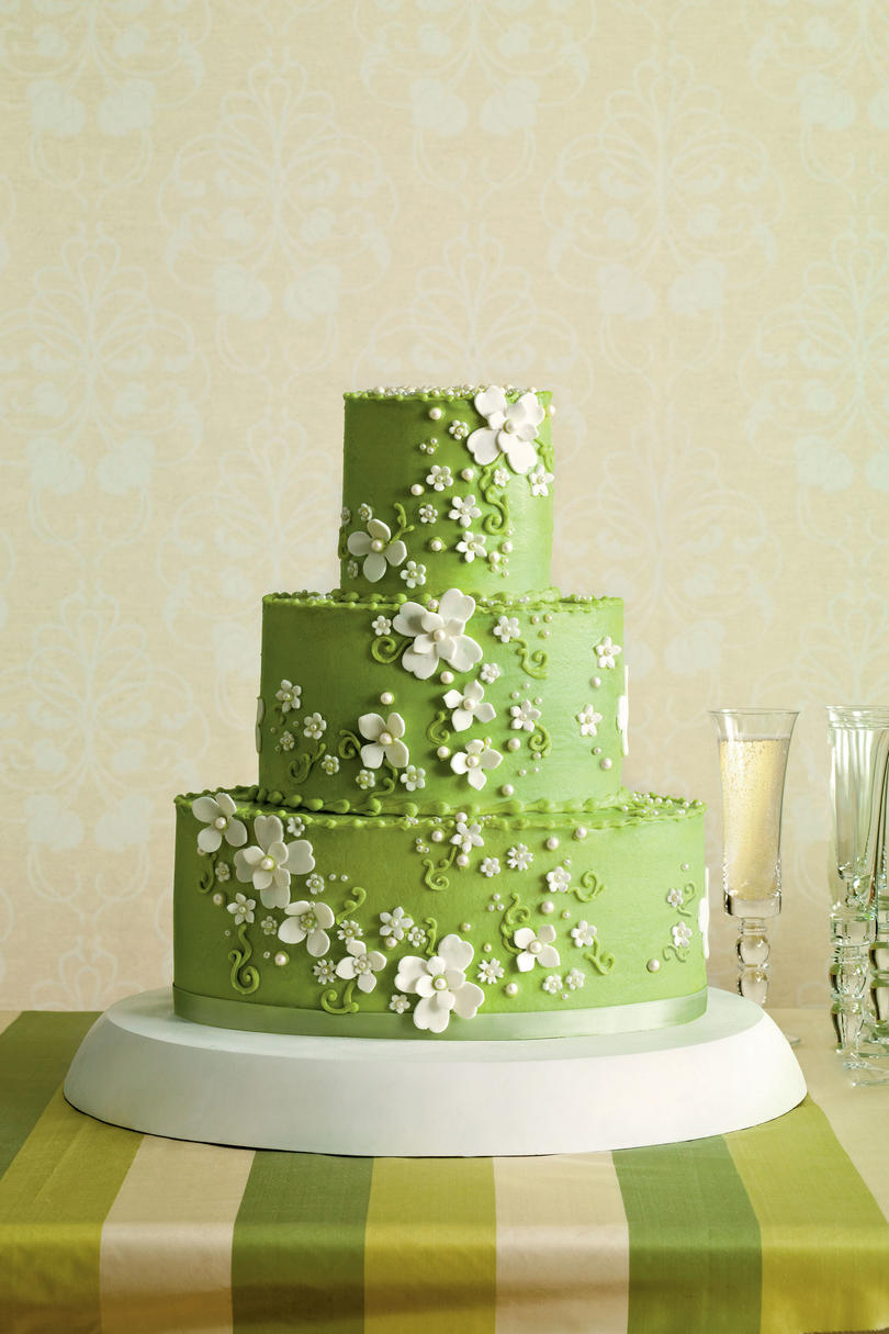 Vibrant Green Wedding Cake