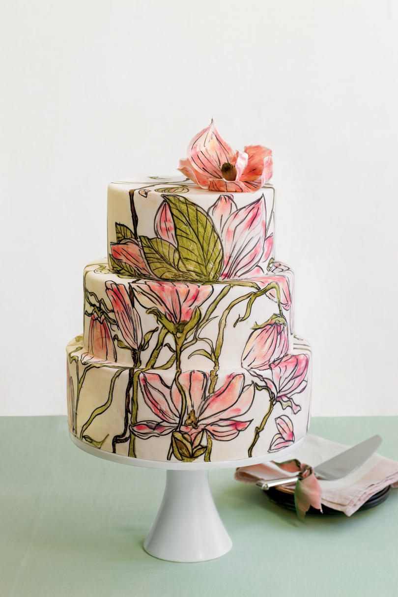 Hand-Painted Wedding Cakes