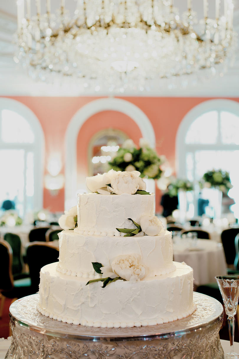 Raspberry-Filled Wedding Cake