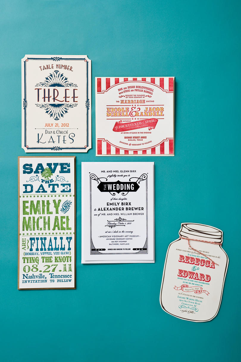 Retro Charm Invitations