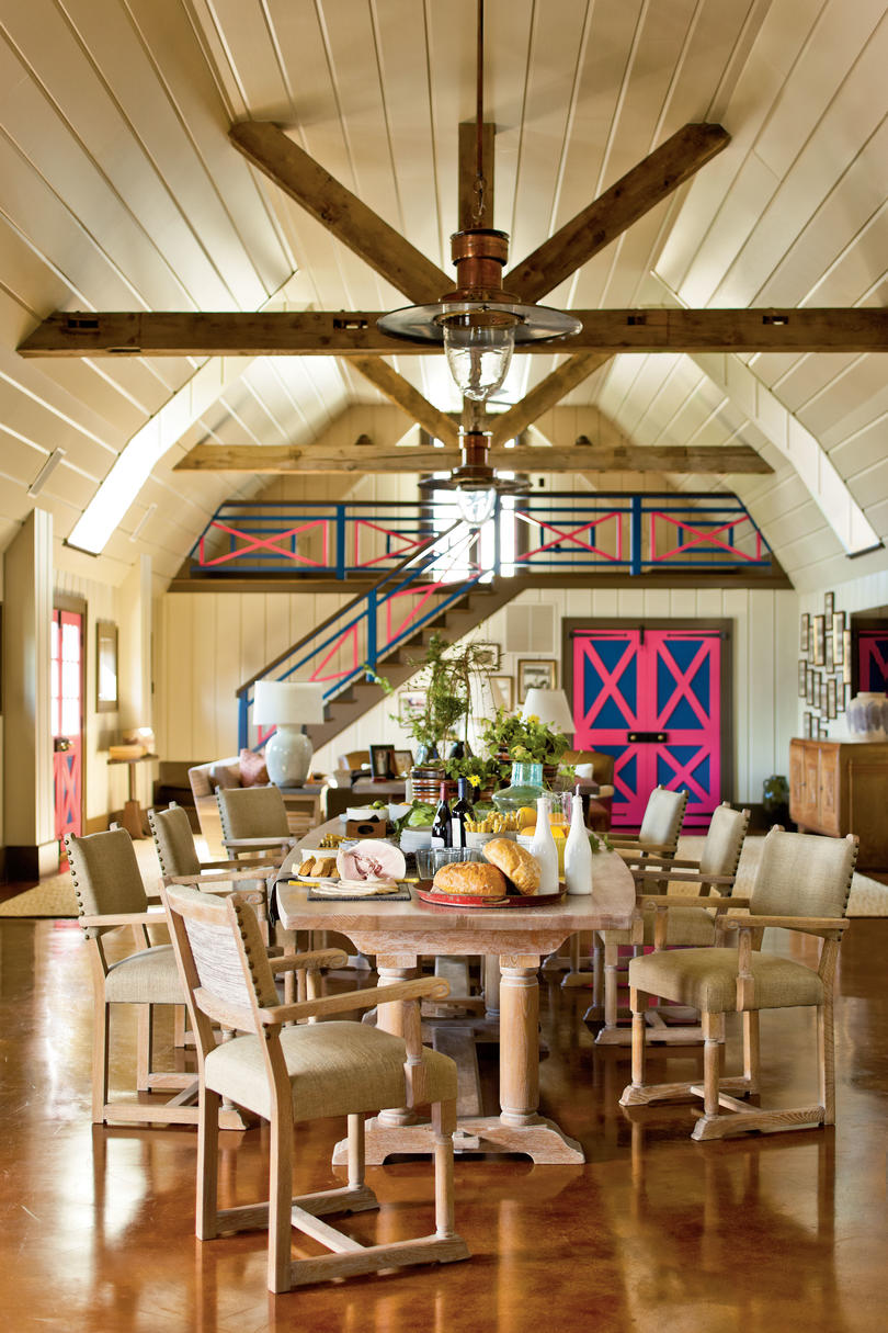 Interior Barn Decorating barn decorating ideas farm turned posh hang out southern 1940s french monastery table
