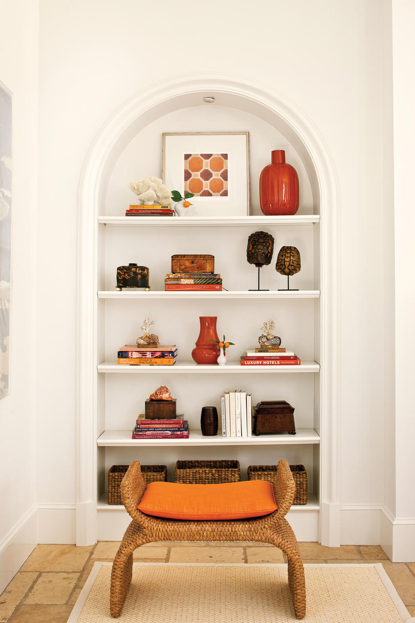 how to decorate a shelf in living room decorating bookshelves southern living 27984